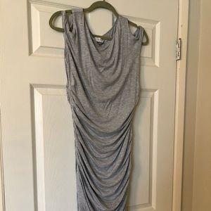 Bailey 44 heather gray dress, cold shoulder cutout